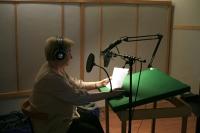 Claudine at the recording studio